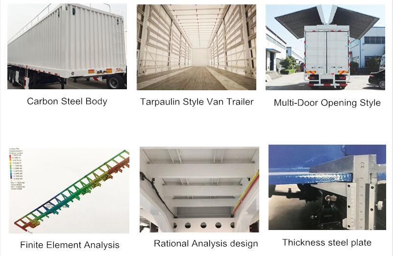 cargo transport box body drawbar van truck trailer 6